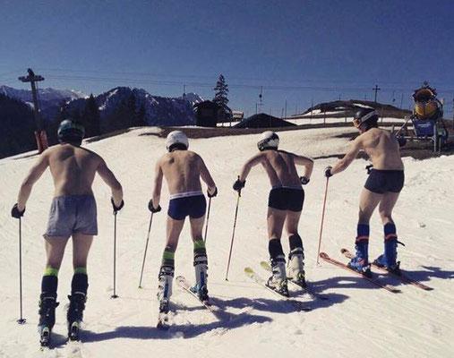 Skiteam Heufeld, jugendlichen Rennfahrer fahren in Unterhosen bei der DJK Meisterschaft 2017