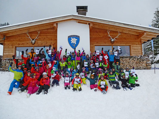 Skiteam SV DJK Heufeld Skikurs Gruppenbild 2019.