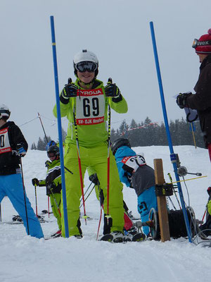 Rennteam Skiteam Heufeld. Mit Spaß am Start zur Tagesbestzeit.