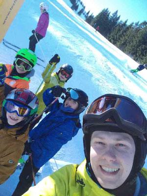 Skikurs Gruppe Skiteam Heufeld / Bruckmühl im Sudelfeld