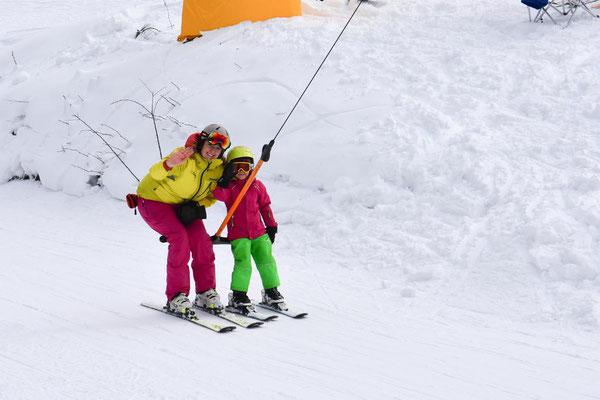 Skilehrer Skiteam SV DJK Heufeld im Schlepplift