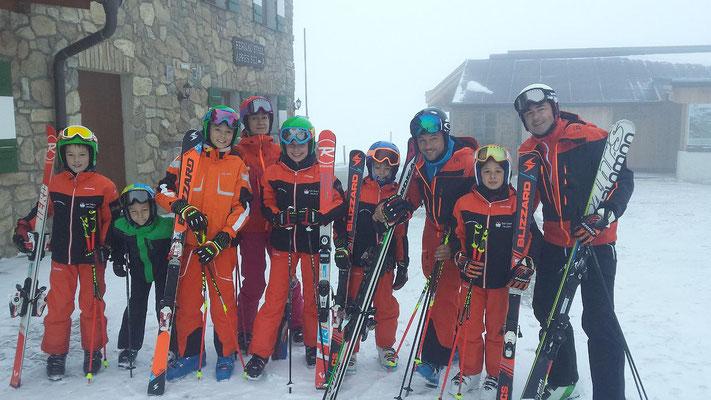 Renntraining Skiteam SV DJK Heufeld auf dem Stubaier Gletscher