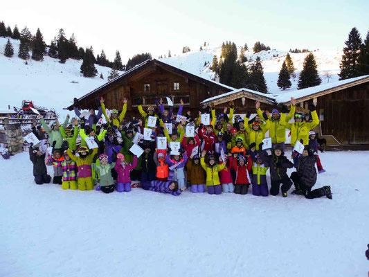 Gruppenfoto Skikurs 2020 Skiteam SV DJK Heufeld