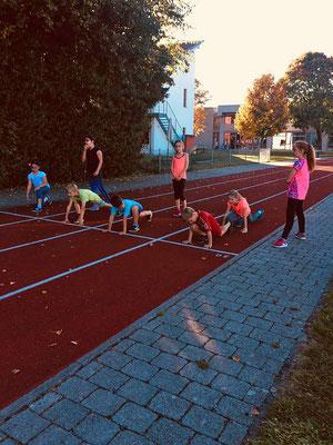 Skigymnastik für Kinder beim SV DJK Heufeld Skiteam.