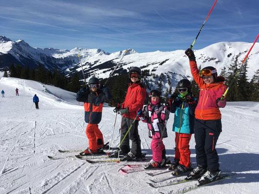 Ski-Freizeitgruppe des SV DJK Heufeld in Saalbach 2019