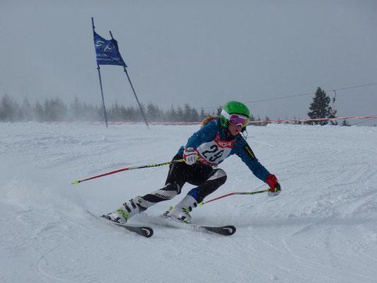 Rennläufer Skiteam Heufeld bei der Vereinsmeisterschaft 2015.