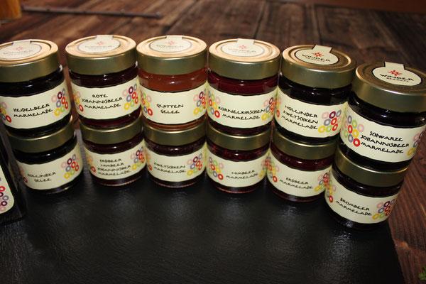 Marmeladen und Gellees von Winder Beeren