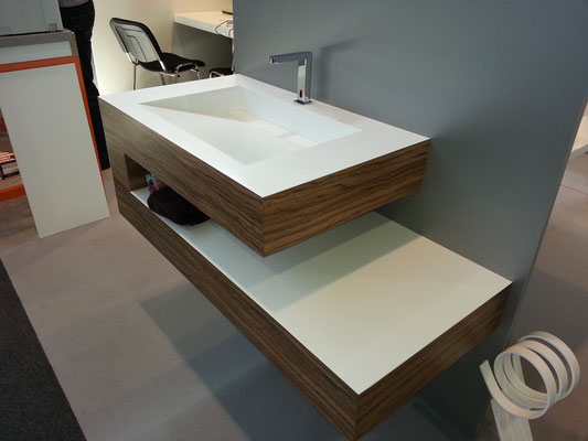 meuble salle de bain sur mesure avec plan vasque en vkorr solid surface vasque sur mesure en vkorr