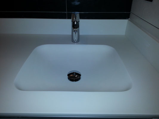 plan vasque en solid surface vkorr et meuble de salle de bain avec vasque sur mesure lyon