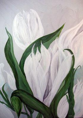 Weisser Tulpenstrauss