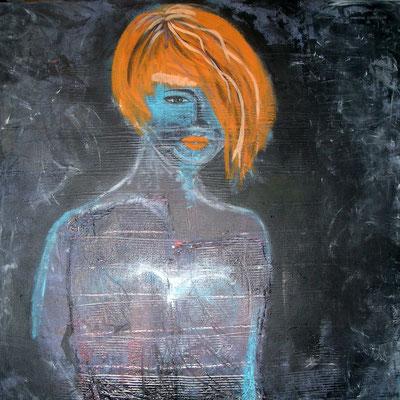 Girl mit orangenen Haaren