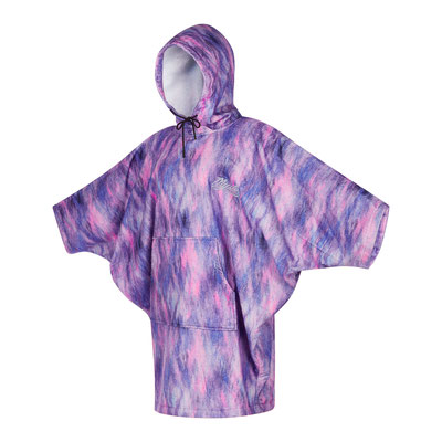 Mystic Poncho Women Black Purple