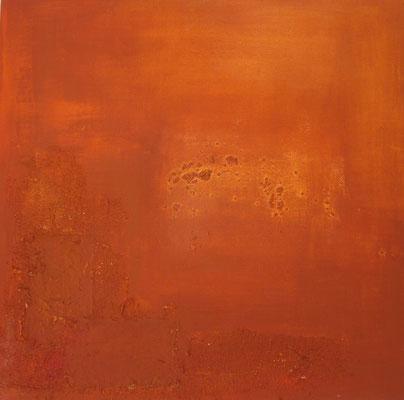 Pigmente, Pflanzenfaser und Sand, 2013 40x40