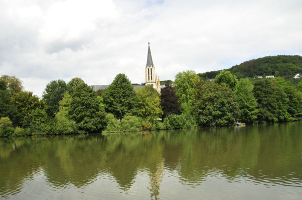 Fluss Lahn in Bad Ems