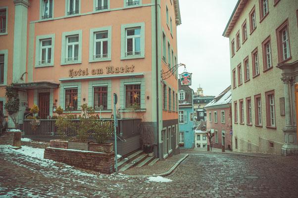 Enge Gassen und alte Häuser in Baden-Baden