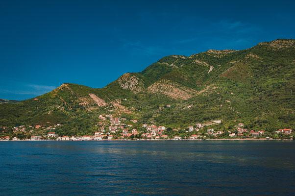 Landschaftsaufnahmen in der Bucht von Kotor