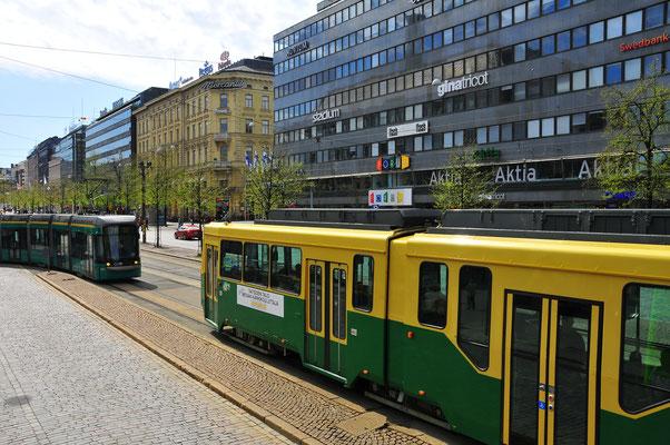 Die Straßenbahn von Helsinki