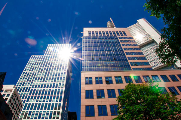Bürogebäude Banken Skyline Frankfurt am Main