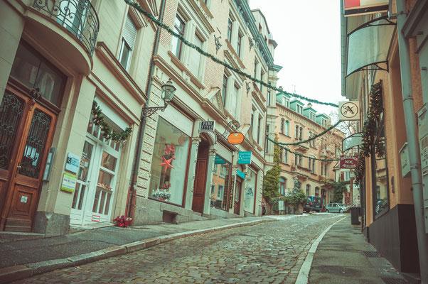 Schmalen Straßen in Baden-Baden