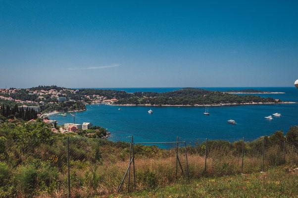 Von Dubac aus mit Blick in Richtung Dubrovnik