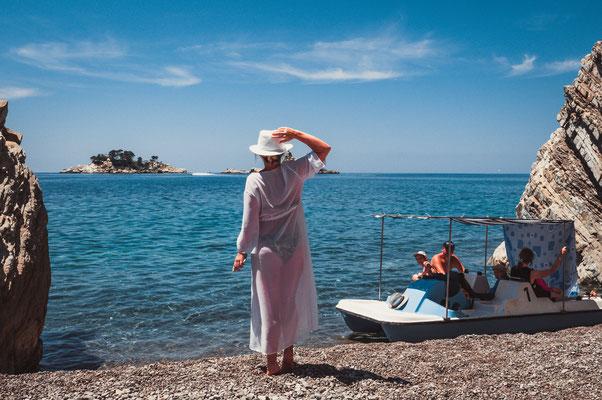 Privater Strand in Petrovac Montenegro