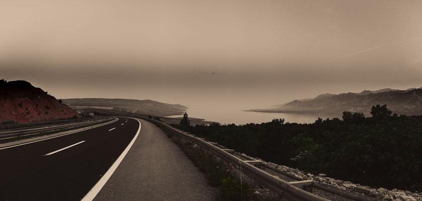 Autobahn in Kroatien nahe Split