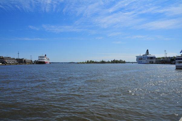 Der Hafen für Passagierschiffen von Helsinki