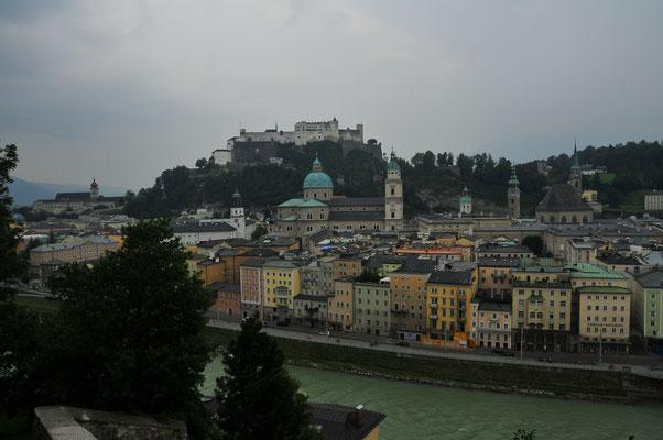 Stadt Salzburg von oben