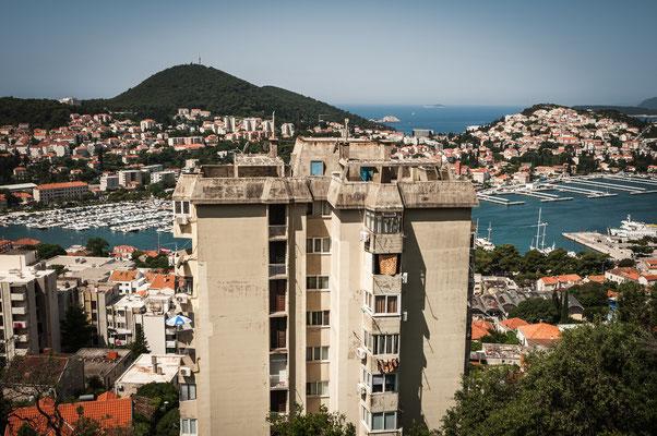 Panorama Blick auf die Stadt Dubrovnik im Süden Kroatien
