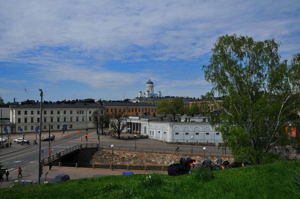 Blick auf die Dächer von Helsinki