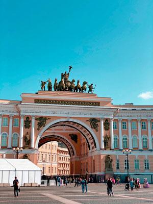 Gemeinsam mit einem Fotograf, Stylist und Stadtführer in Sankt Petersburg