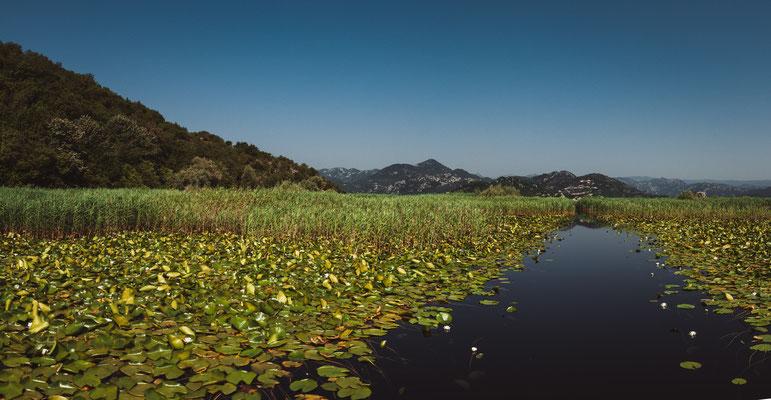 Unvergessliche Landschaften im Nationalpark von Montenegro am Skadarsee