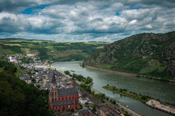 Blick auf Oberwesel am Rhein