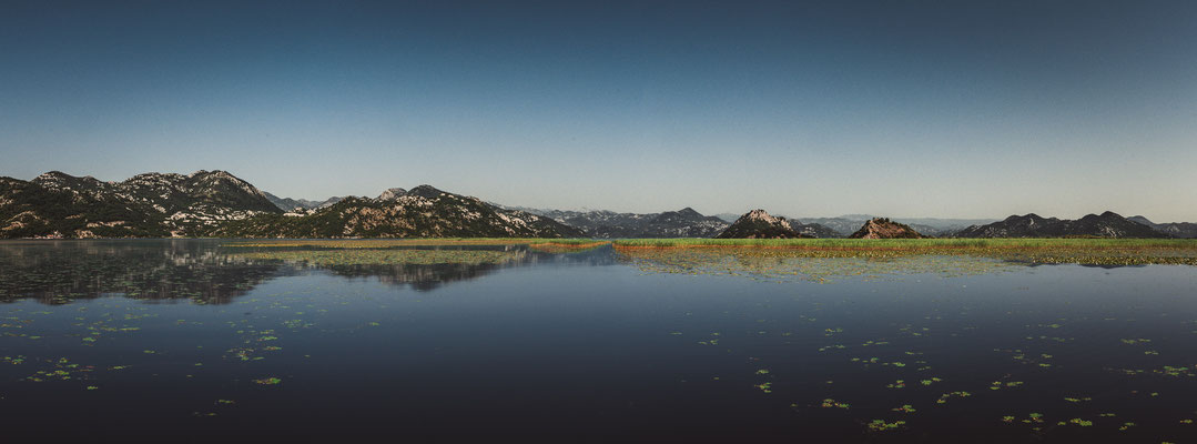 Panorama Blick auf den schönsten See Skadarsee von Montenegro