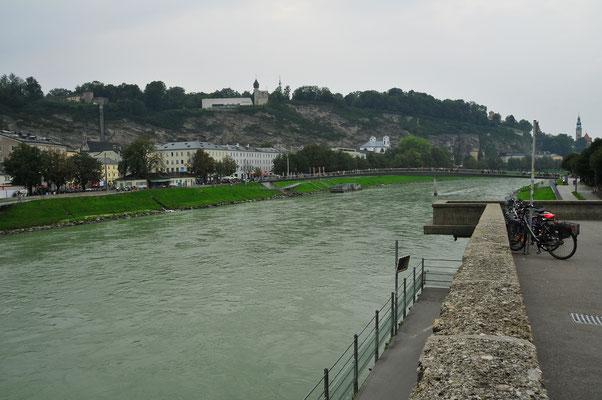 Fluss Salzach in Salzburg