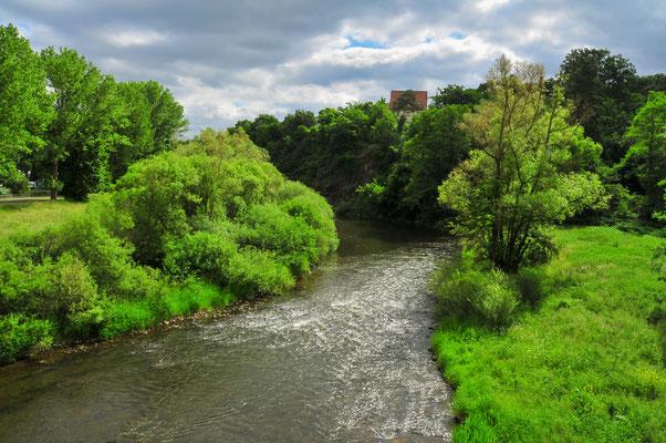 Fluss Nahe durch Bad Sobernheim