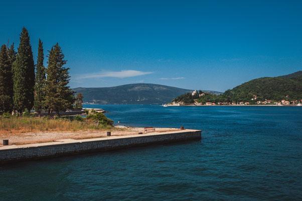 Schöne Aussichten in der Bucht von Kotor