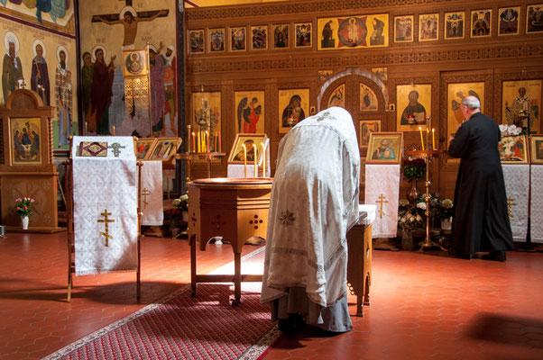 Priester der russisch-orthodoxen Kirche des Heiligen Nikolaus in Frankfurt