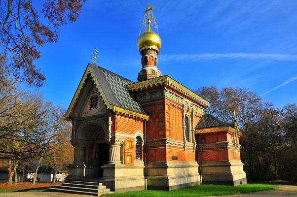 Russische Orthodoxe Kirche von Bad Homburg im Herbst