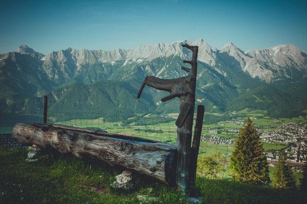 Blick auf die Bergspitzen Breithorn, Mitterhorn, Schönfeldspitze, Selbhorn