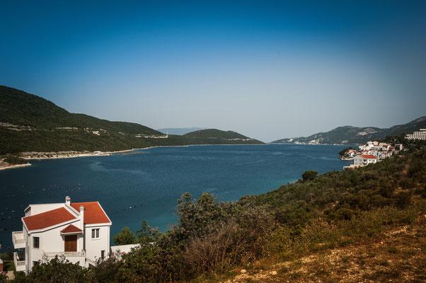 Schöne Aussicht vom Haus auf das Adria Meer in Kroatien