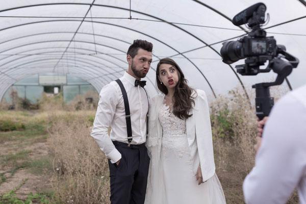 Videoaufnahmen vom Brautpaar