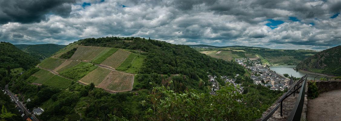 Turmmuseum auf Schönburg in Oberwesel am Rhein Panorama Aufnahme