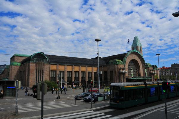Bahnhof für Güterzüge und Passagierzüge - finnische Hauptstadt Helsinki