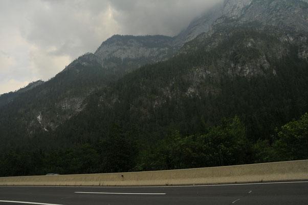 Alpen auf der Durchfahrt