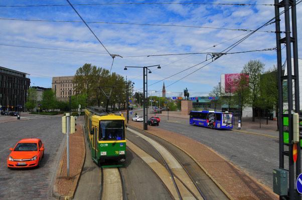 Gewöhnliche Straßen von Helsinki