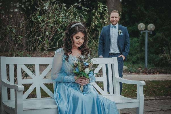 Brautpaar-Shooting noch vor der eigentlichen Hochzeit
