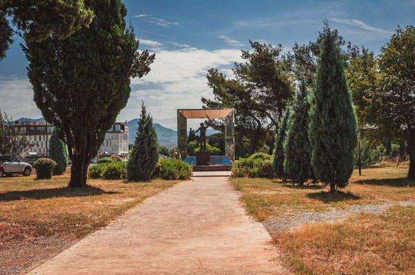 Das Denkmal an den Wladimir Wysotskij in Podgorica Montenegro
