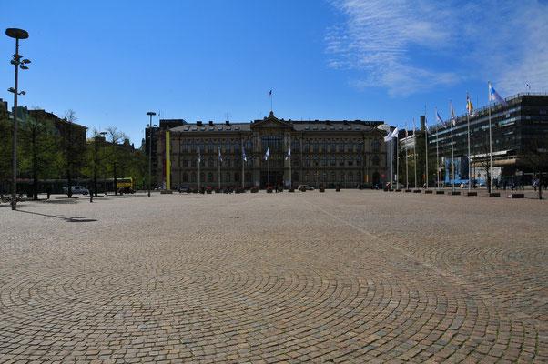 Der zentrale Platz in der Hauptstadt Finnlands Helsinki