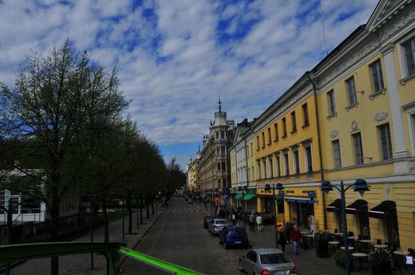 Straßenbild von Helsinki